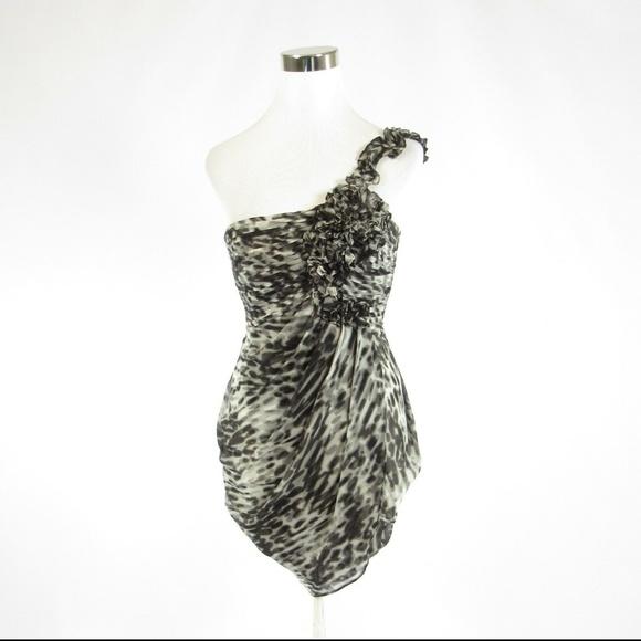 Gray BCBG MAX AZRIA one shoulder dress 0